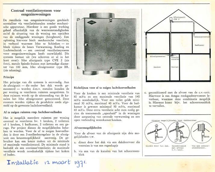 artikel Installatie 1971