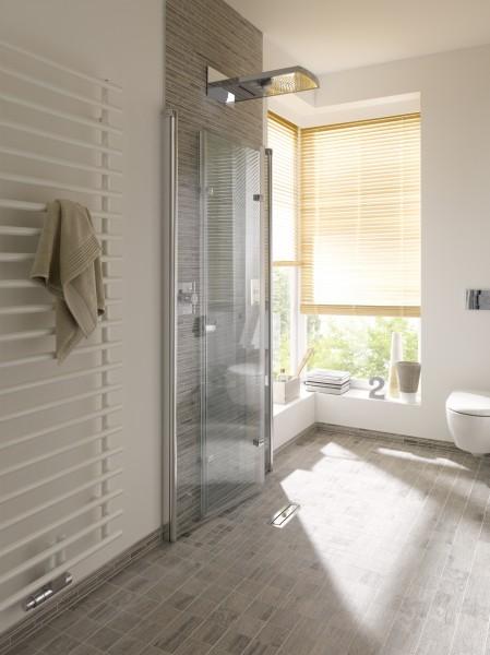 Inklapbare douche for Installatie badkamer