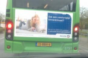 Bus met boodschap