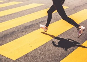 blonde-woman-running-over-the-pedestrian-crossing-picjumbo-com