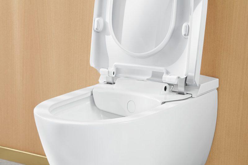 Toilet Met Douche : Geberit aquaclean tuma wandcloset met douche wc met zwart glas
