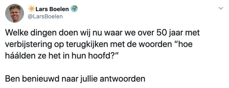 Lars boelen, tweet